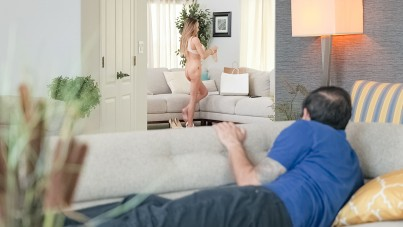 Couch Surfing Fucking Neighbor's Pussy
