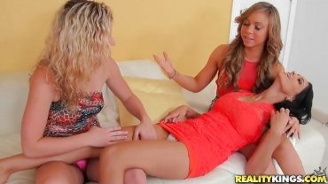 Reality Kings - Blonde, Brunette And Jet Black Haired Babe Explore Their Bodies - We Live Together